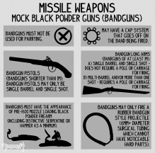 missile weapons bandguns
